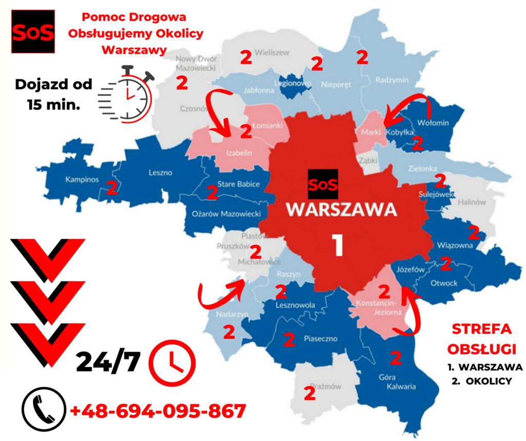 Pomoc drogowa Warszawa Okolicy