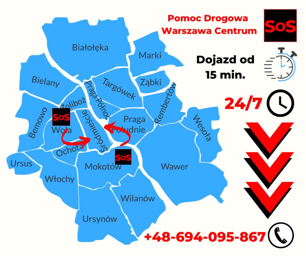 Pomoc drogowa Warszawa Centrum