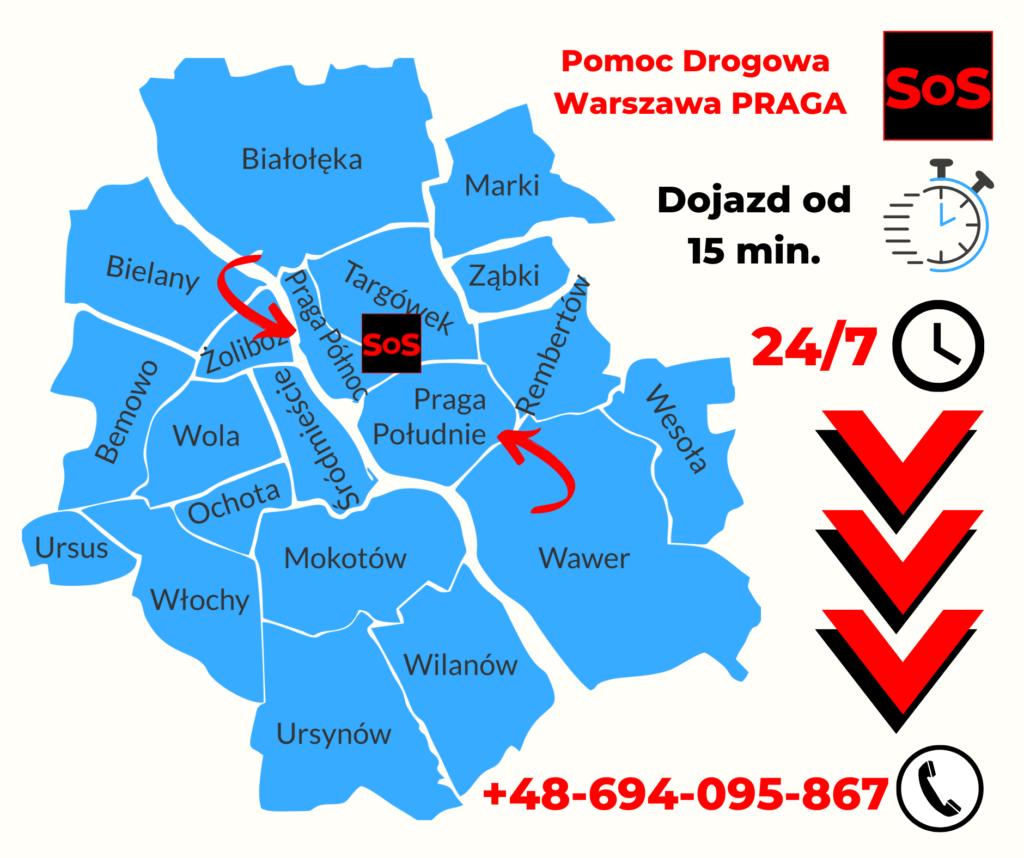 Pomoc Drogowa Warszawa Praga