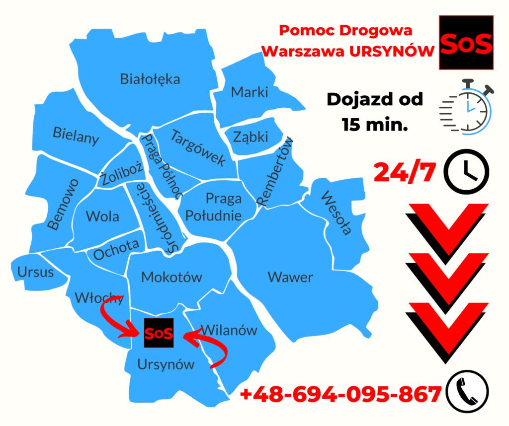 Pomoc drogowa Warszawa Usynów