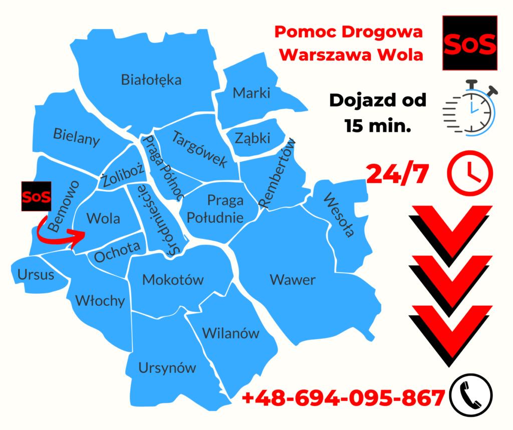 Pomoc drogowa Warszawa Wola