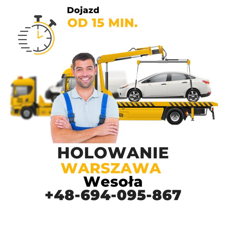 Holowanie Warszawa Wesoła