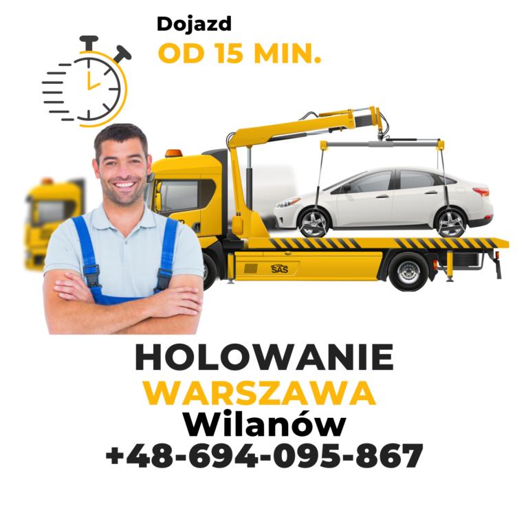 Holowanie Warszawa Wilanów