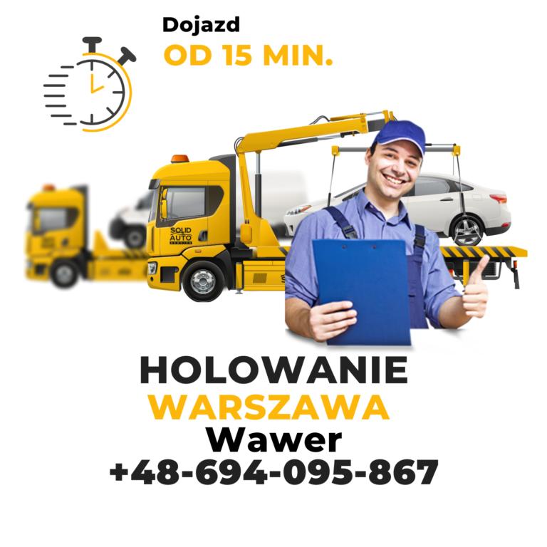 Holowanie Warszawa Wawer