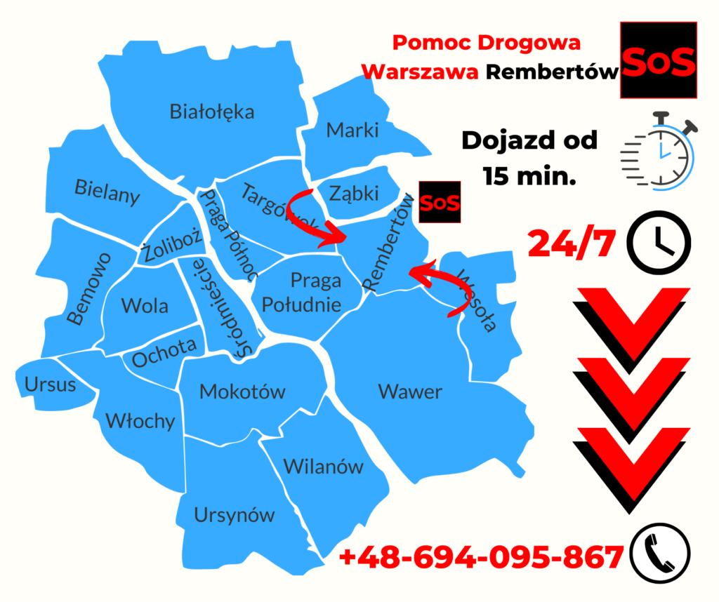Pomoc Drogowa Warszawa Rembertów