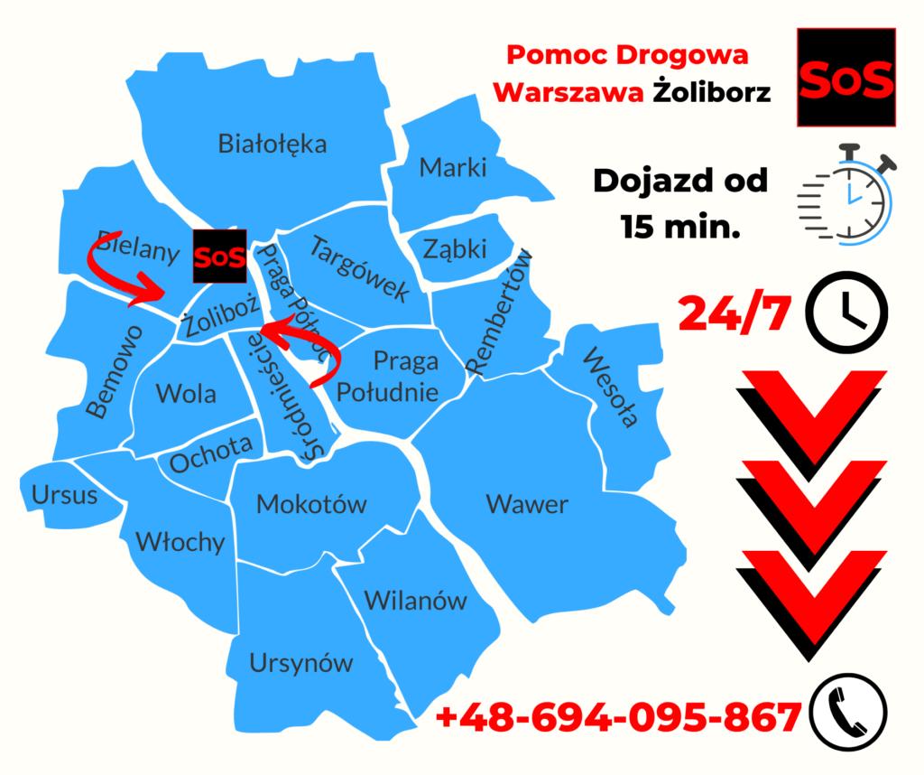Pomoc Drogowa Warszawa Żoliborz