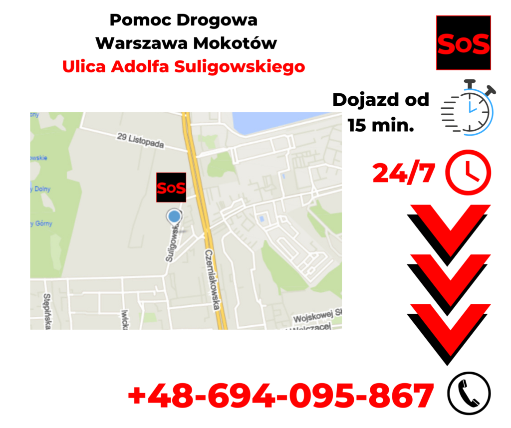 Pomoc drogowa ul. Adolfa Suligowskiego
