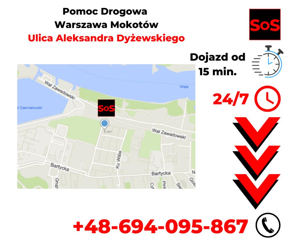 Pomoc drogowa ul. Aleksandra Dyżewskiego