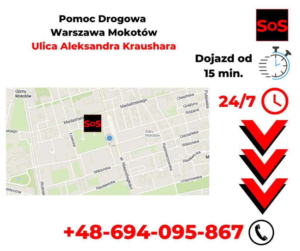 Pomoc drogowa ul. Aleksandra Kraushara