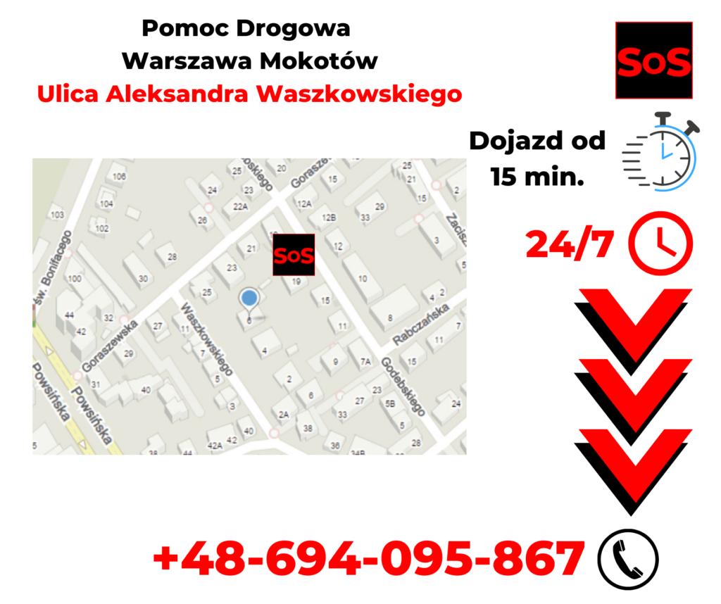 Pomoc drogowa ul. Aleksandra Waszkowskiego
