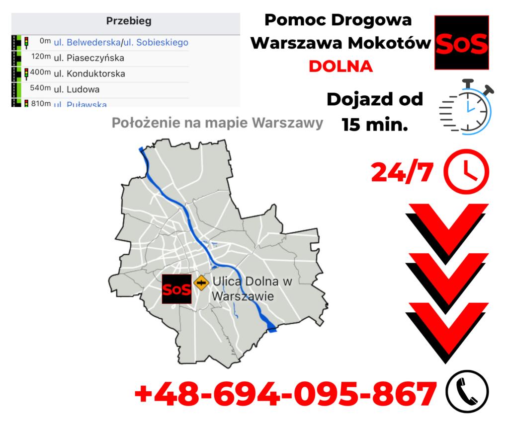 Pomoc drogowa ul. Dolna