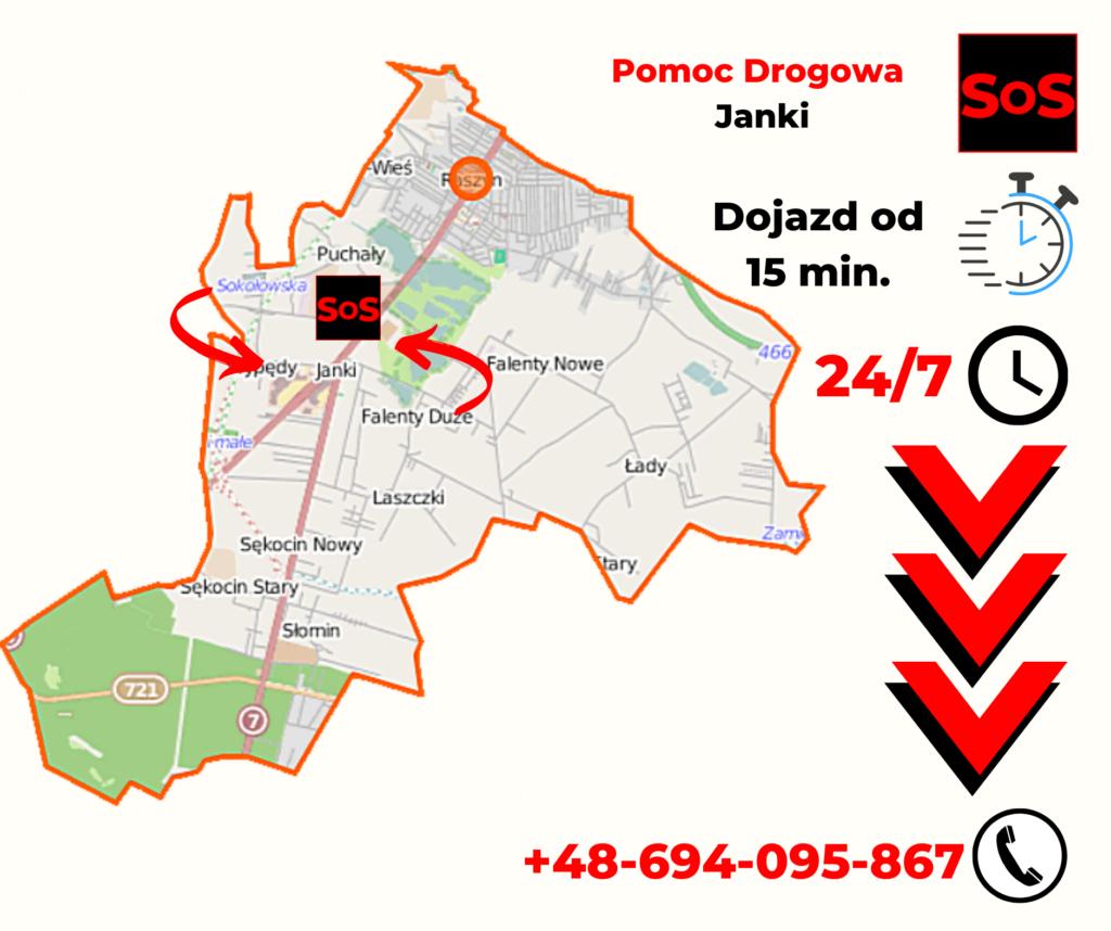 Pomoc Drogowa Warszawa Janki
