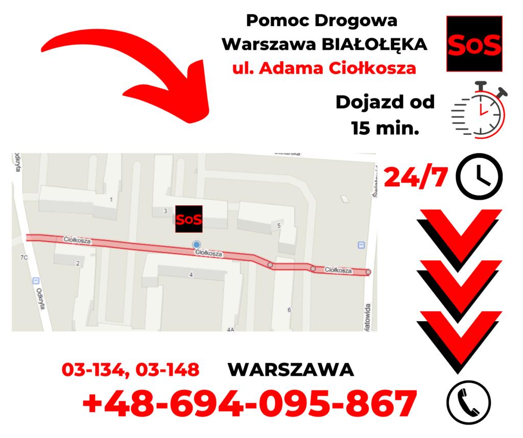 Pomoc drogowa ul. Adama Ciołkosza