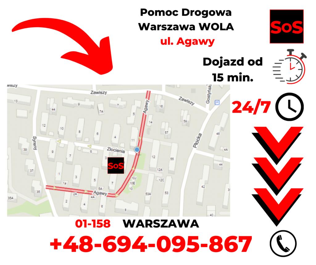 Pomoc drogowa ul. Agawy