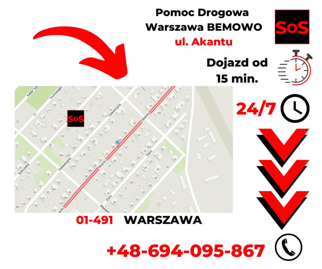 Pomoc drogowa ul. Akantu