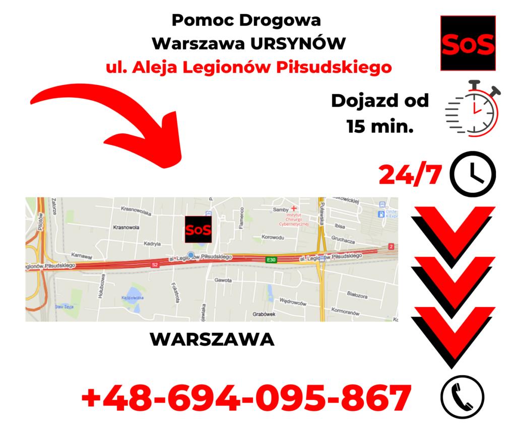 Pomoc drogowa ul. Aleja Legionów Piłsudskiego