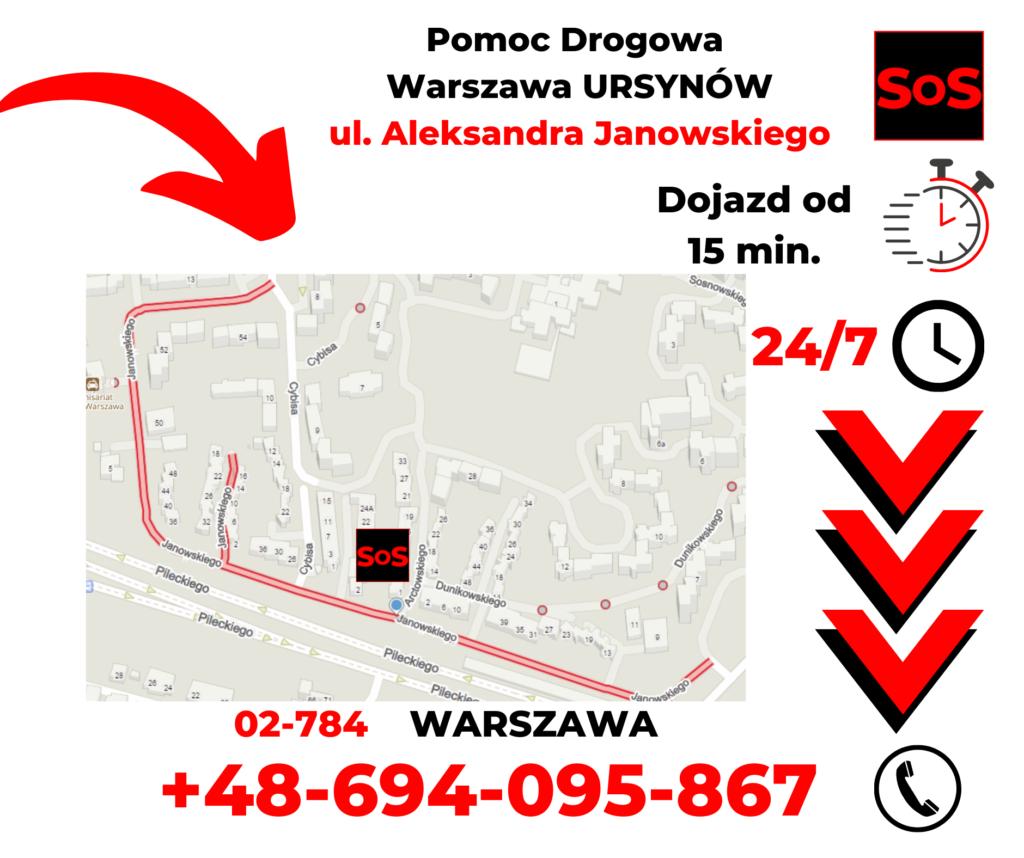 Pomoc drogowa ul. Aleksandra Janowskiego