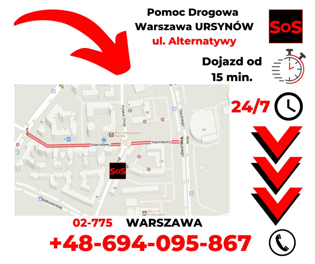 Pomoc drogowa ul. Alternatywy