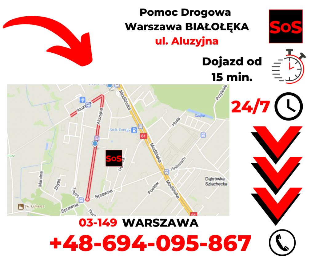 Pomoc drogowa ul. Aluzyjna