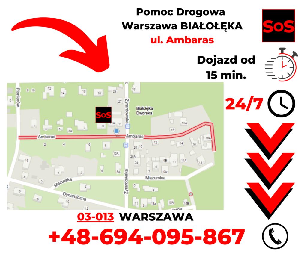 Pomoc drogowa ul. Ambaras