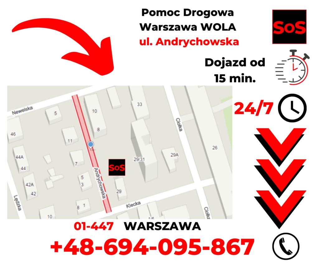 Pomoc drogowa ul. Andrychowska