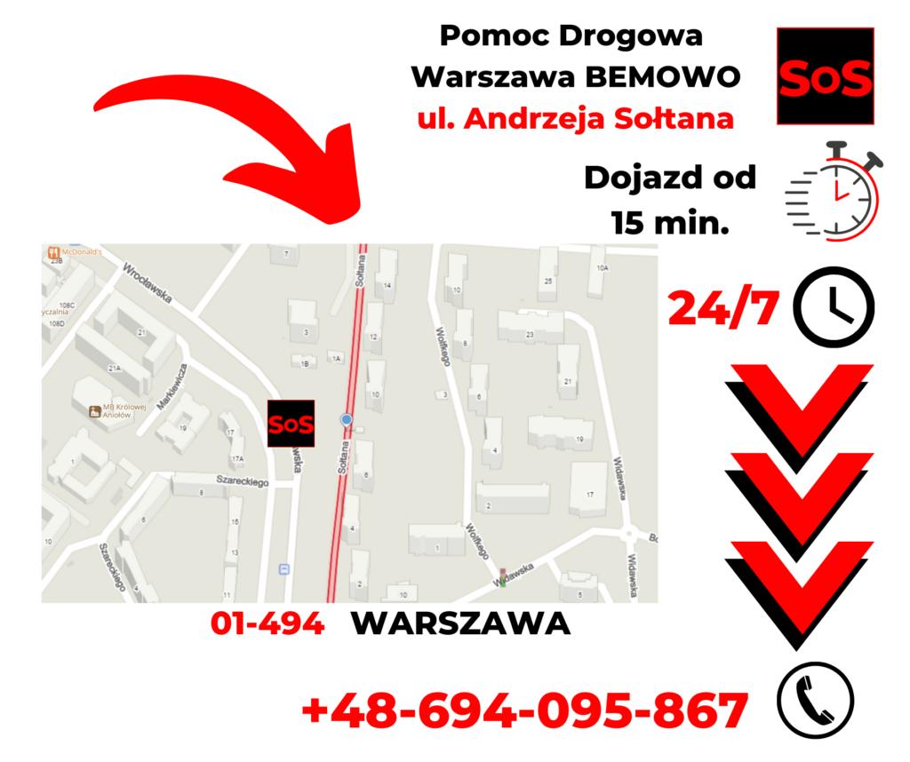 Pomoc drogowa ul. Andrzeja Sołtana