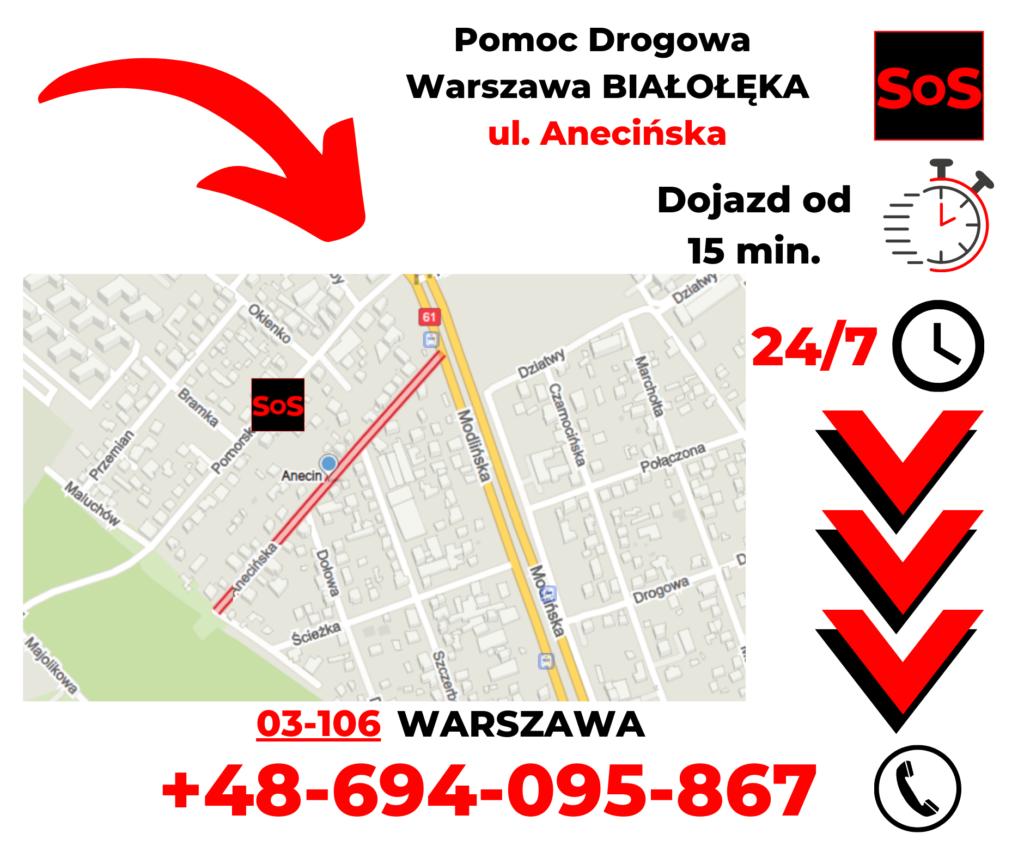 Pomoc drogowa ul. Anecińska