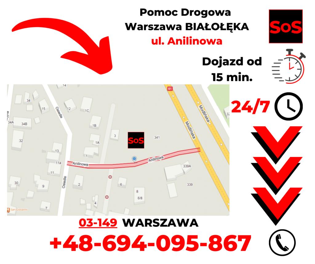 Pomoc drogowa ul. Anilinowa