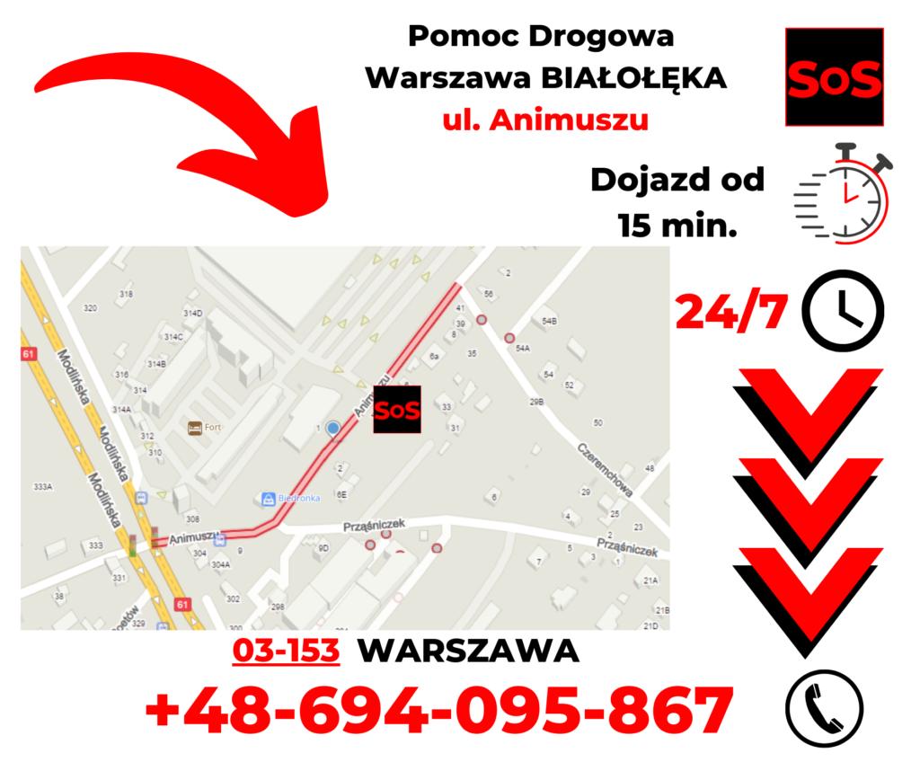 Pomoc drogowa ul. Animuszu