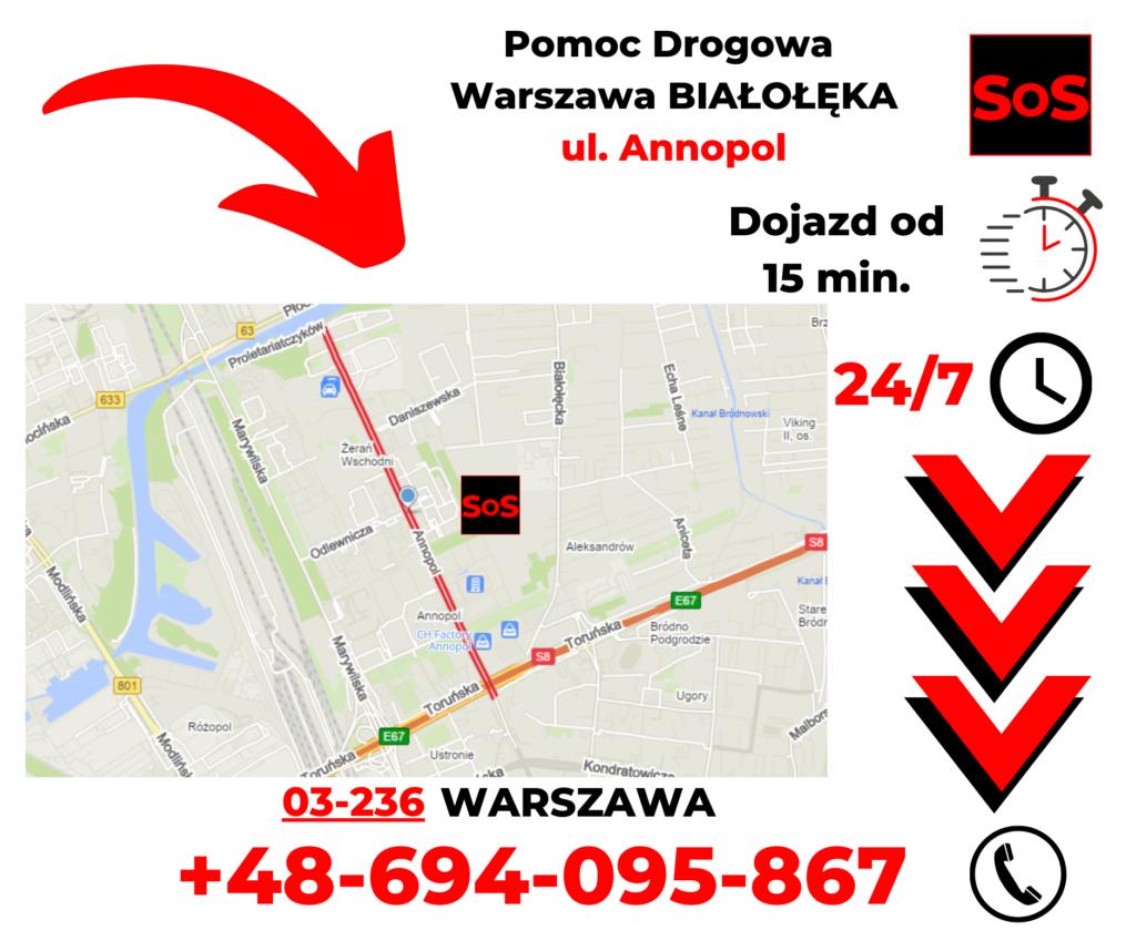 Pomoc drogowa ul. Annopol
