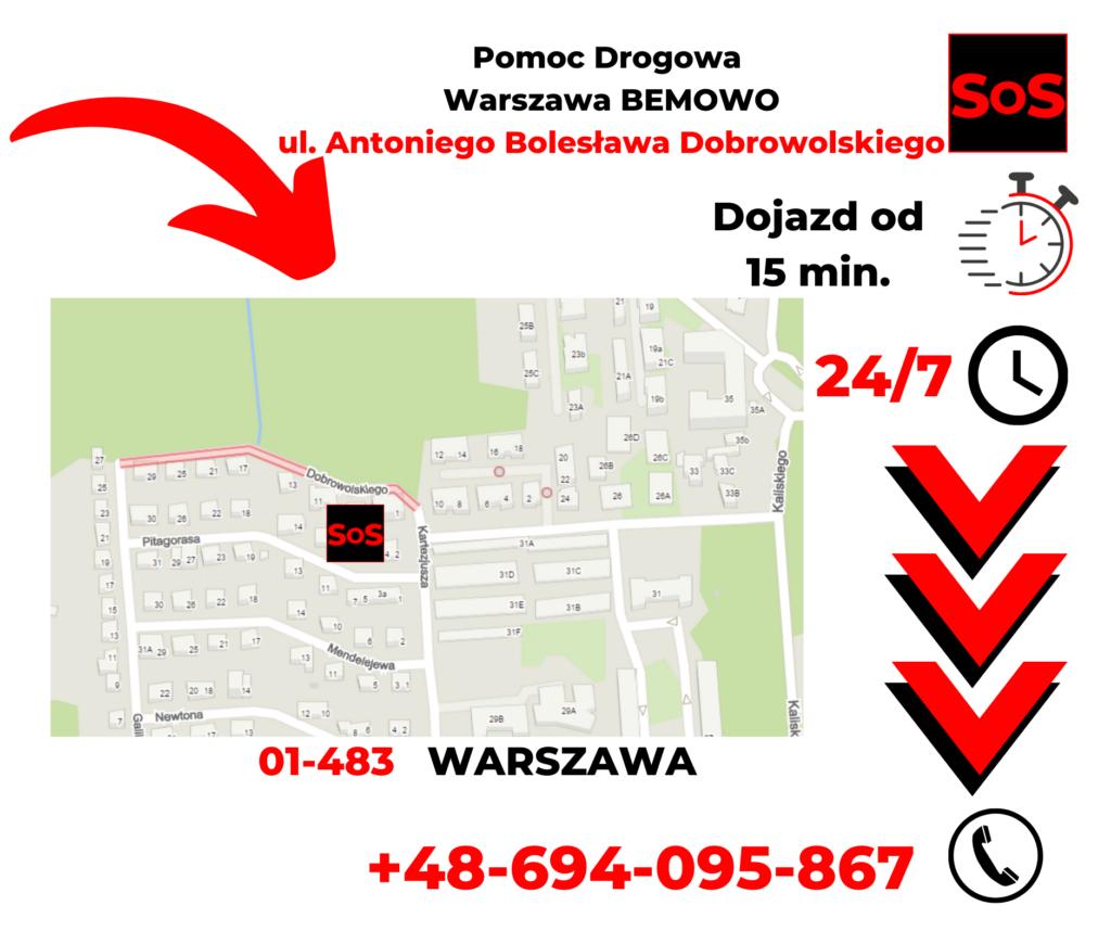 Pomoc drogowa ul. Antoniego Bolesława Dobrowolskiego