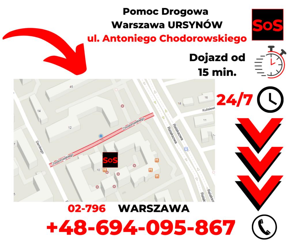 Pomoc drogowa ul. Antoniego Chodorowskiego