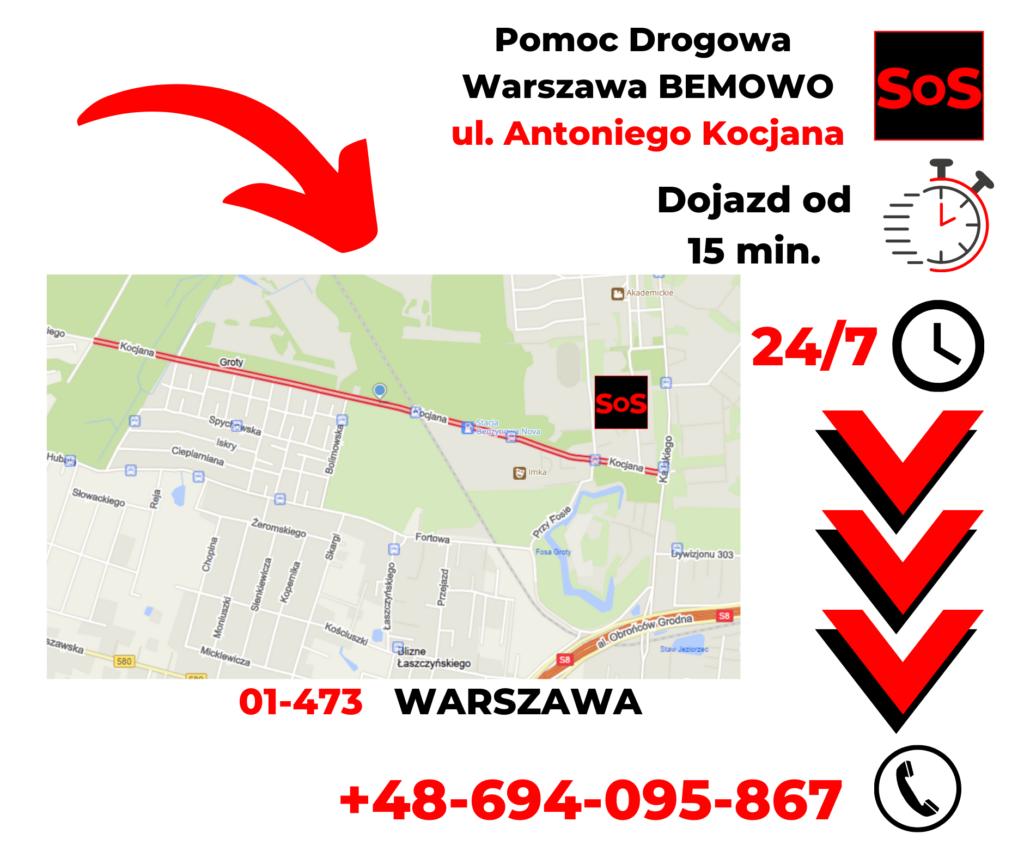 Pomoc drogowa ul. Antoniego Kocjana