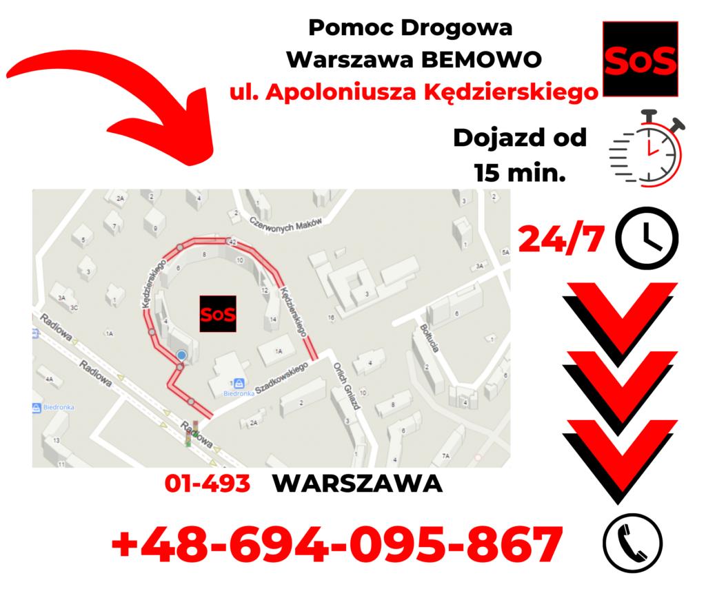 Pomoc drogowa ul. Apoloniusza Kędzierskiego