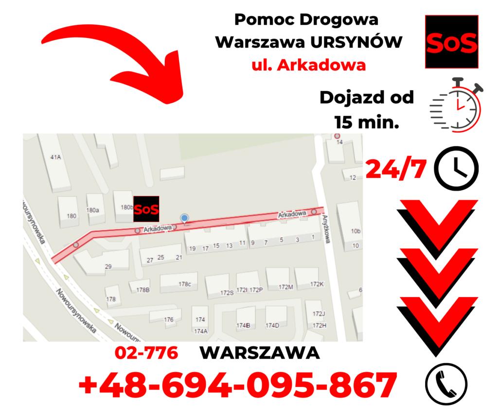 Pomoc drogowa ul. Arkadowa