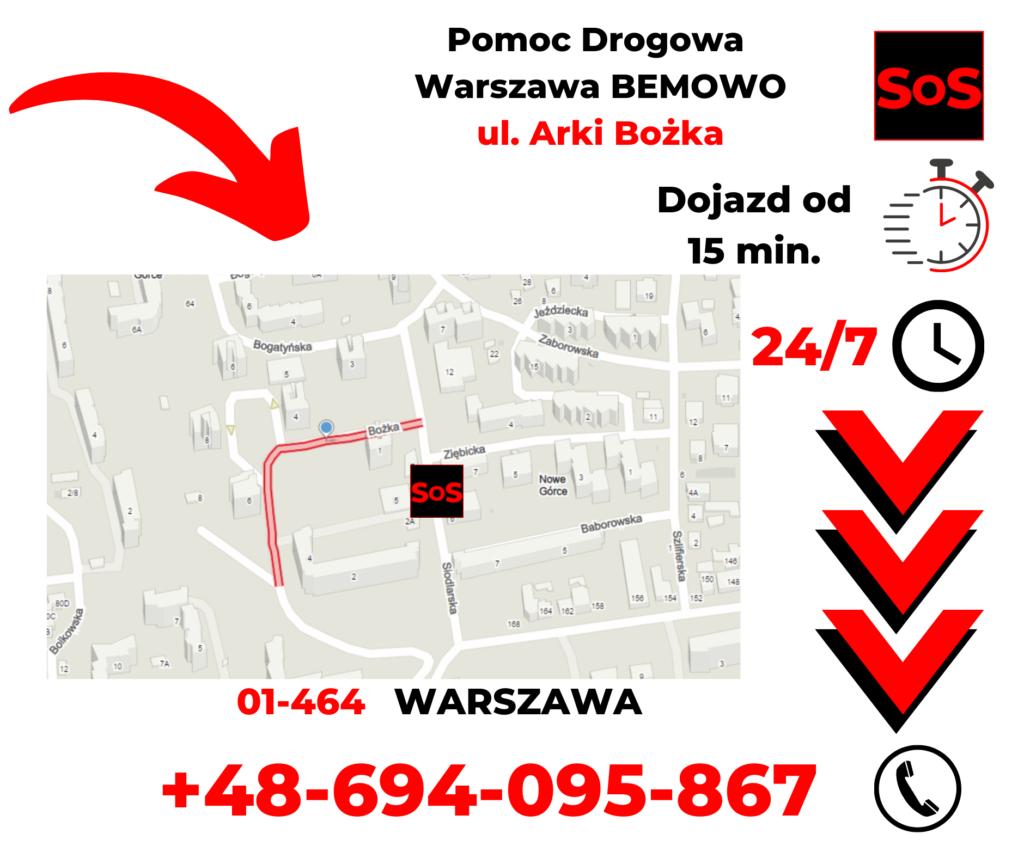 Pomoc drogowa ul. Arki Bożka