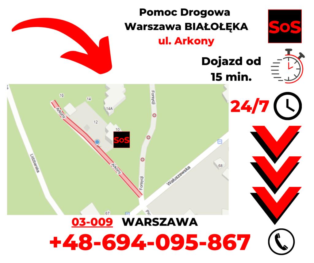 Pomoc drogowa ul. Arkony