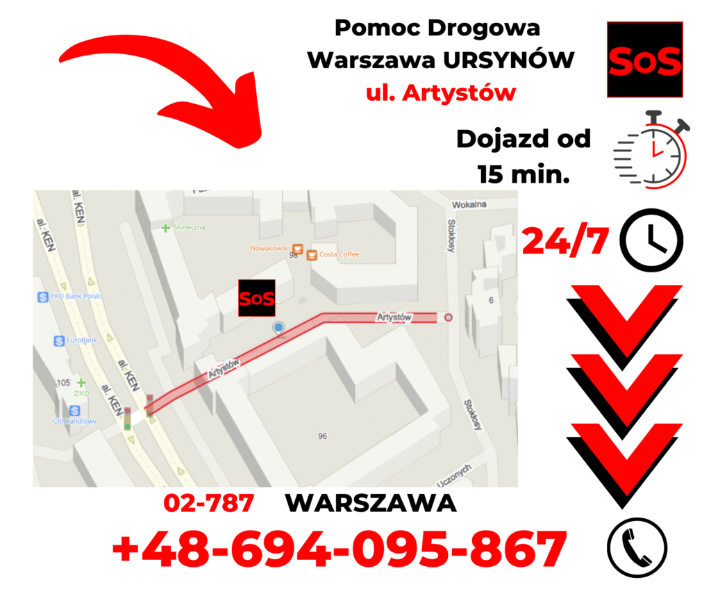 Pomoc drogowa ul. Artystów