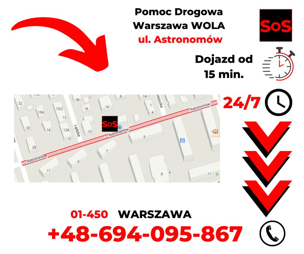 Pomoc drogowa ul. Astronomów