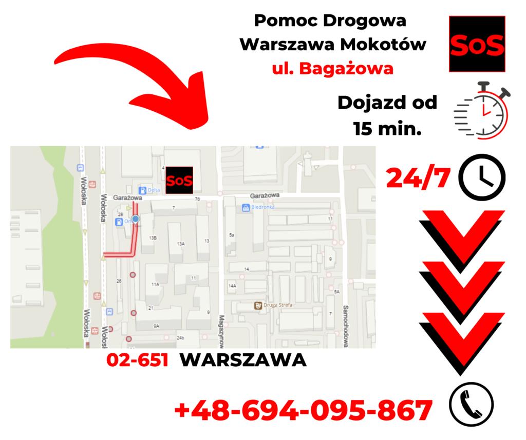 Pomoc drogowa ul. Bagażowa
