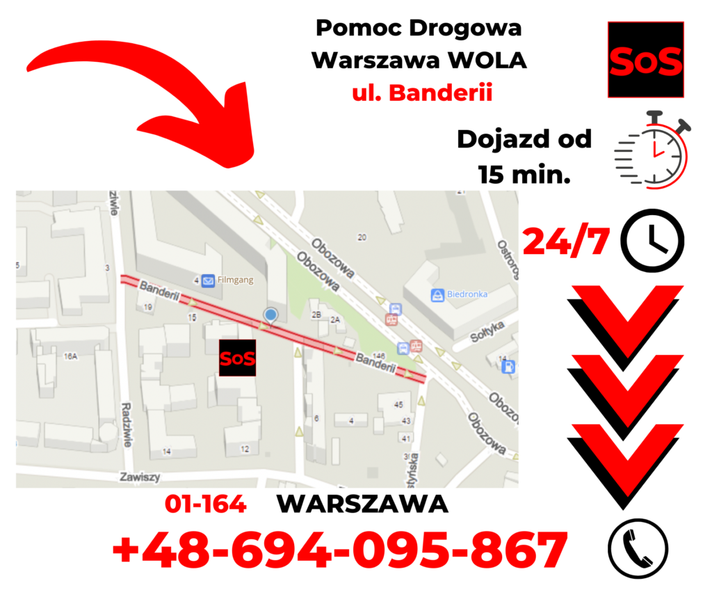Pomoc drogowa ul. Banderii