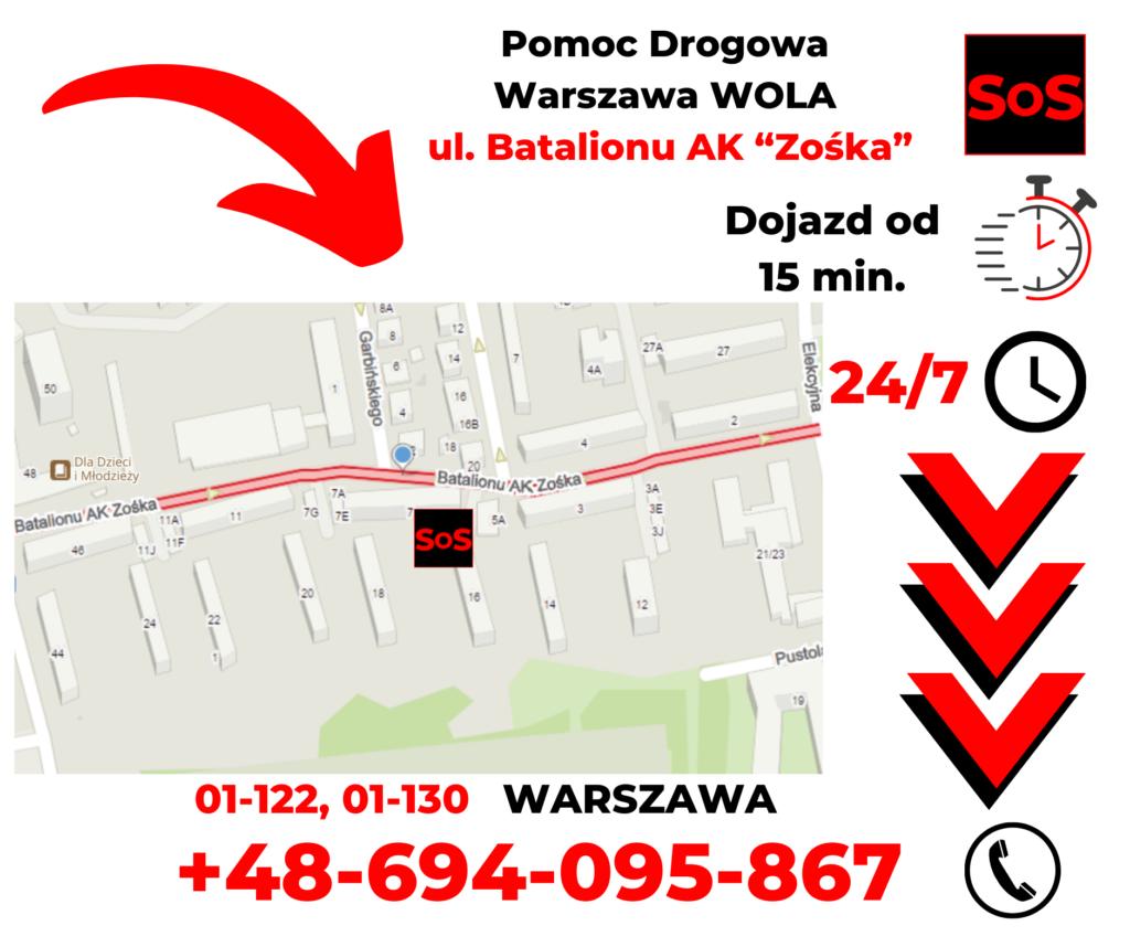 """Pomoc drogowa ul. Batalionu AK """"Zośka"""""""