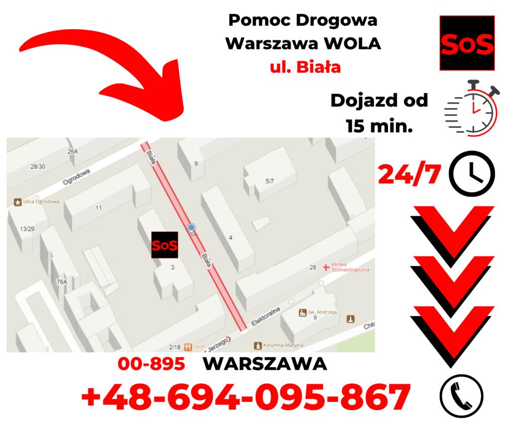 Pomoc drogowa ul. Biała