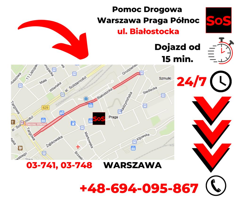 Pomoc drogowa ul. Białostocka