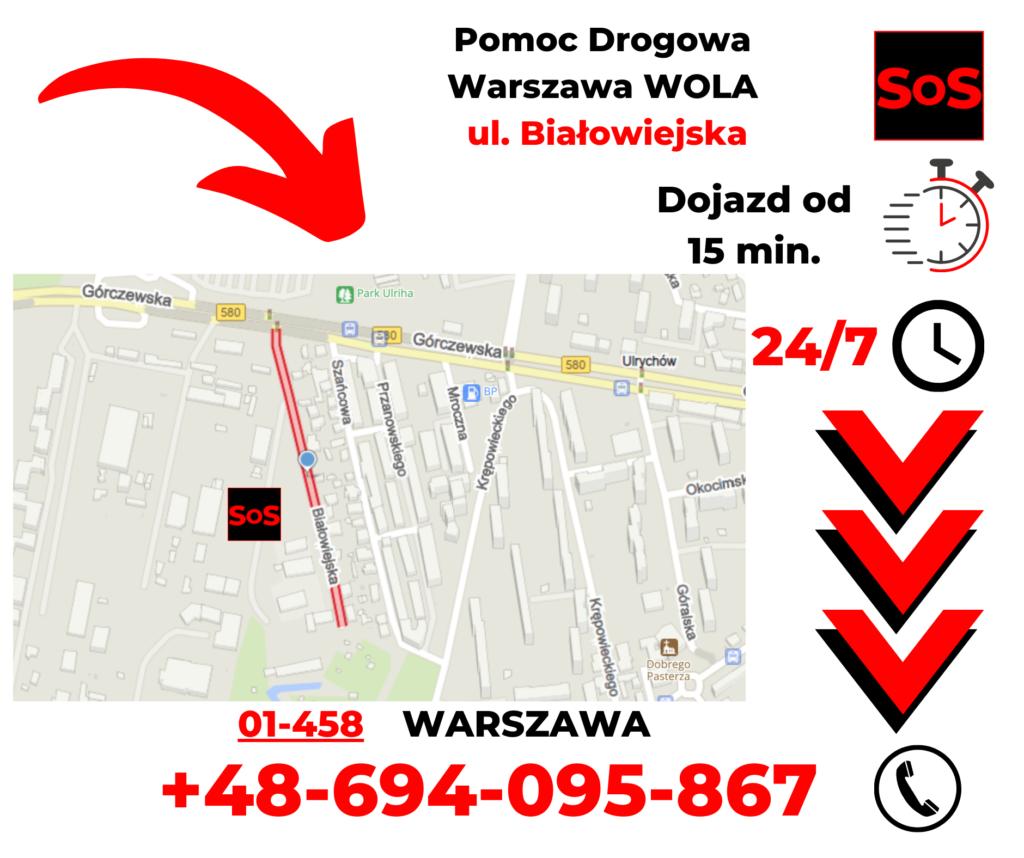 Pomoc drogowa ul. Białowiejska