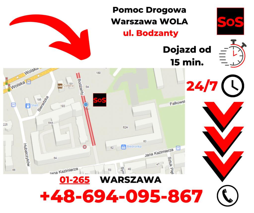 Pomoc drogowa ul. Bodzanty