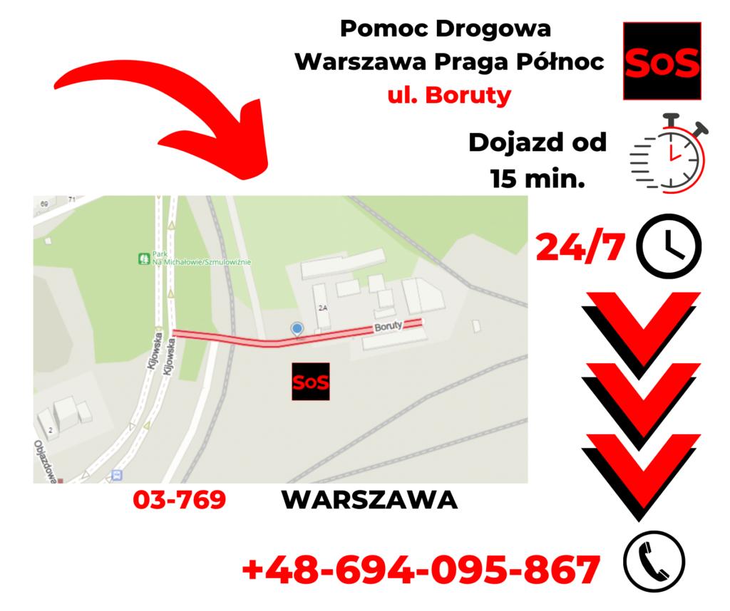 Pomoc drogowa ul. Boruty