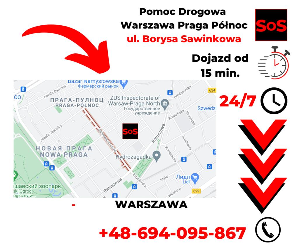 Pomoc drogowa ul. Borysa Sawinkowa