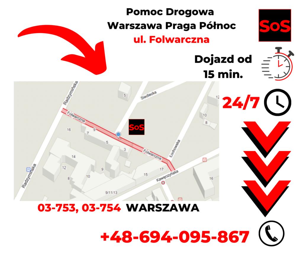 Pomoc drogowa ul. Folwarczna