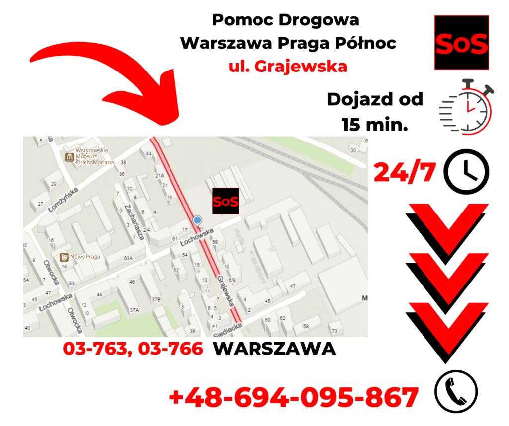 Pomoc drogowa ul. Grajewska